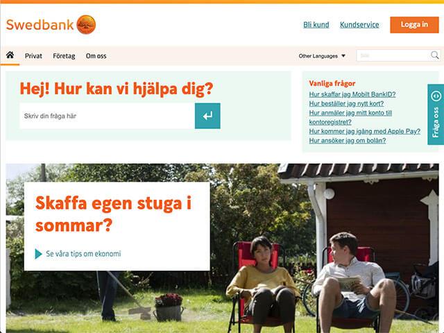 Skärmdump Swedbank